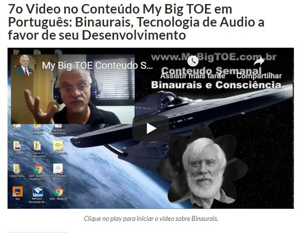 Imagem do vídeo sobre Sons Binaurais